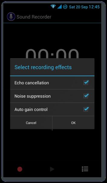 Sound Recorder - effects